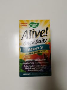 Aliveのマルチビタミンの箱