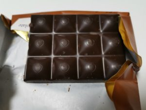 Chocoloveのチョコのトップにはハートが描かれていて可愛いです。